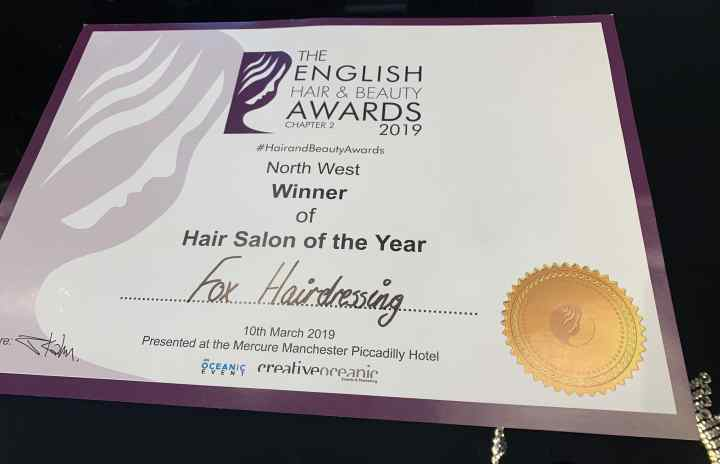 Fox Hairdressing Team English Hair & Beauty Awards 2019